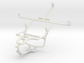Controller mount for PS4 & LG Optimus Vu F100S in White Natural Versatile Plastic