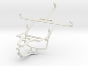 Controller mount for PS4 & LG Optimus Vu II - Fron in White Natural Versatile Plastic