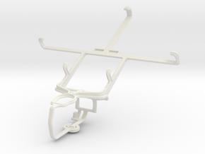 Controller mount for PS3 & LG Optimus Vu P895 in White Natural Versatile Plastic