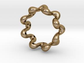 Wavy bracelet 75 in Polished Gold Steel
