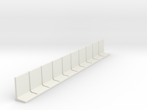 N Scale Retaining Wall 2500mm 10pc in White Natural Versatile Plastic