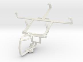 Controller mount for PS3 & Motorola ATRIX TV XT682 in White Natural Versatile Plastic