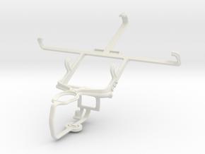 Controller mount for PS3 & Motorola ATRIX HD MB886 in White Natural Versatile Plastic