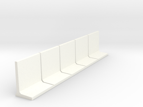 HO Retaining Wall 2000mm 5pc in White Processed Versatile Plastic