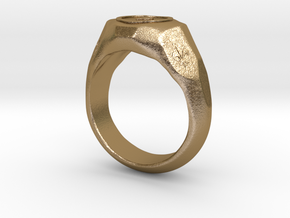 "US 7 size ""Play"" ring, second edition. in Polished Gold Steel"