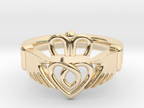 Traditional Claddagh Ring in 14K Yellow Gold: 5 / 49