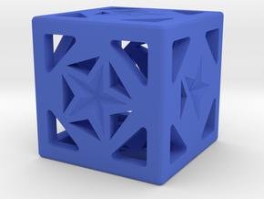 Dice158 in Blue Processed Versatile Plastic