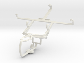 Controller mount for PS3 & Motorola DROID RAZR M in White Natural Versatile Plastic