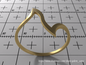 Ring Model D - Size 6 - Gold in 14K Yellow Gold