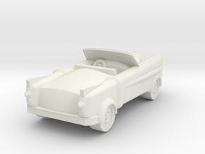 Lancer Car for 28/30mm wargaming retrofuturistic in White Natural Versatile Plastic