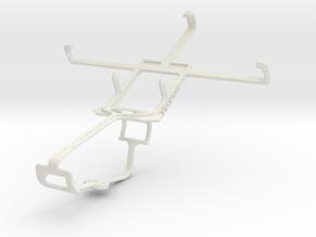 Controller mount for Xbox One & Motorola RAZR MAXX in White Natural Versatile Plastic