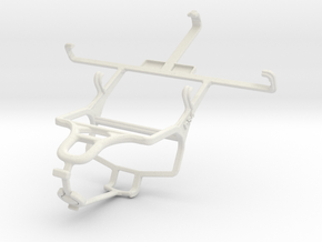 Controller mount for PS4 & Motorola RAZR V MT887 in White Natural Versatile Plastic