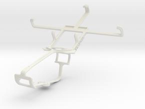 Controller mount for Xbox One & Motorola RAZR i XT in White Natural Versatile Plastic