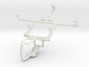 Controller mount for PS3 & Motorola RAZR i XT890 in White Natural Versatile Plastic