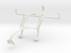 Controller mount for Xbox 360 & Motorola RAZR D3 X in White Natural Versatile Plastic