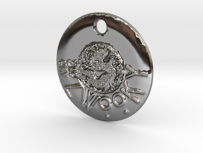 ZWOOKY Style 305 - pendant dragon in Fine Detail Polished Silver