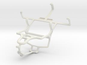 Controller mount for PS4 & NIU Niutek 3G 3.5B in White Natural Versatile Plastic