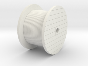 N Scale Cable Reel (Full) in White Natural Versatile Plastic