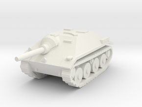 10mm Hetzer tank hunter in White Strong & Flexible