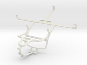 Controller mount for PS4 & Pantech Vega No 6 in White Natural Versatile Plastic