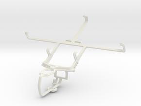 Controller mount for PS3 & Pantech Vega No 6 in White Natural Versatile Plastic