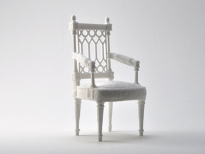 Georges Jacob Chair  1/12TH scale  (1739-1814) in White Natural Versatile Plastic
