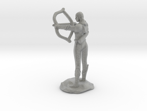 Half Elf Ranger with Bow in Metallic Plastic
