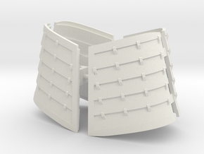Devout Thigh Armor in White Natural Versatile Plastic