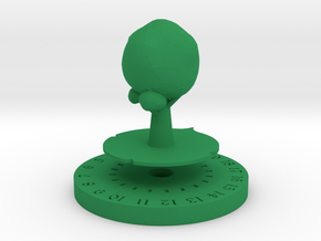 Life Counter - Tree in Green Processed Versatile Plastic