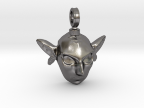 LoZ: Majora's Mask - Zora Mask Charm in Polished Nickel Steel