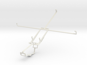 Controller mount for Xbox One & Plum Ten 3G in White Natural Versatile Plastic