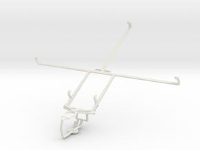 Controller mount for PS3 & Plum Ten 3G in White Natural Versatile Plastic