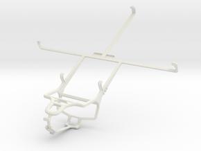Controller mount for PS4 & Prestigio MultiPad 4 Ul in White Natural Versatile Plastic