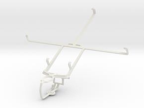 Controller mount for PS3 & Prestigio MultiPad 8.0  in White Natural Versatile Plastic