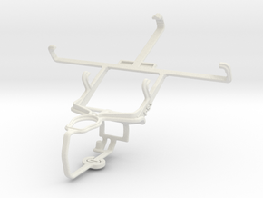 Controller mount for PS3 & Samsung Galaxy Core I82 in White Natural Versatile Plastic