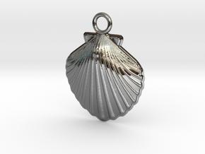 Scallop Earring in Premium Silver