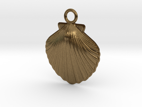Scallop Earring in Natural Bronze