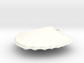 Scallop Earring Small in White Processed Versatile Plastic