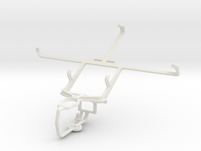 Controller mount for PS3 & Samsung Galaxy Mega 5.8 in White Natural Versatile Plastic