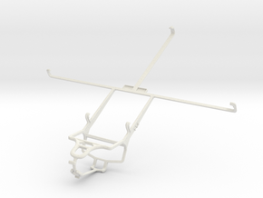 Controller mount for PS4 & Samsung Galaxy Note 10. in White Natural Versatile Plastic