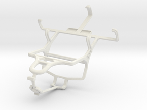 Controller mount for PS4 & Samsung Galaxy Pocket S in White Natural Versatile Plastic