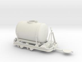 Feldbahn Tanklore gebremst Spur 0e 1:45 in White Natural Versatile Plastic