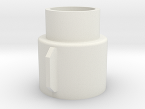 Extra Strong Bix3 Motor Mount in White Natural Versatile Plastic