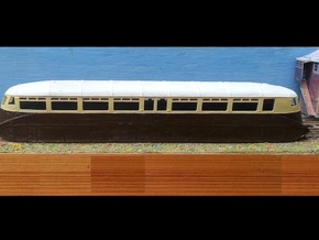 GWR Railcar #1 - N - 1:148 in Smooth Fine Detail Plastic