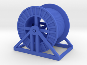 HO Steel Cable Reel (Full) in Blue Strong & Flexible Polished