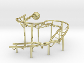 Rolling Ball Sculpture in 18K Gold Plated