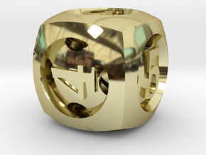 Overstuffed d6 in 18K Gold Plated
