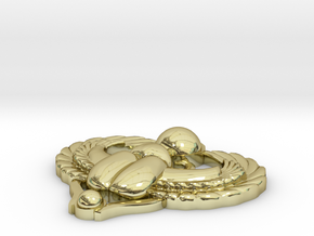 Scarab Pendant in 18K Gold Plated