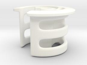 Syphon Clip in White Processed Versatile Plastic