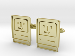 Happy Computer Cufflinks in 18K Gold Plated